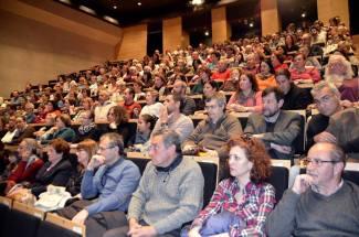 Todo un honor ver el auditorio así de lleno para dar voz a Las victimas sin llanto